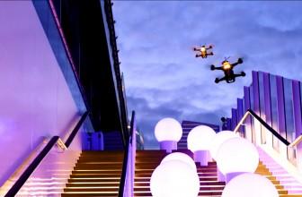 Rasantes Wettrennen mit zwei Racing-Drohnen auf dem Schiff AIDAprima